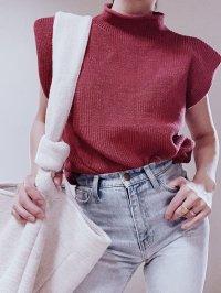 【select】Sleeveless Vest tops